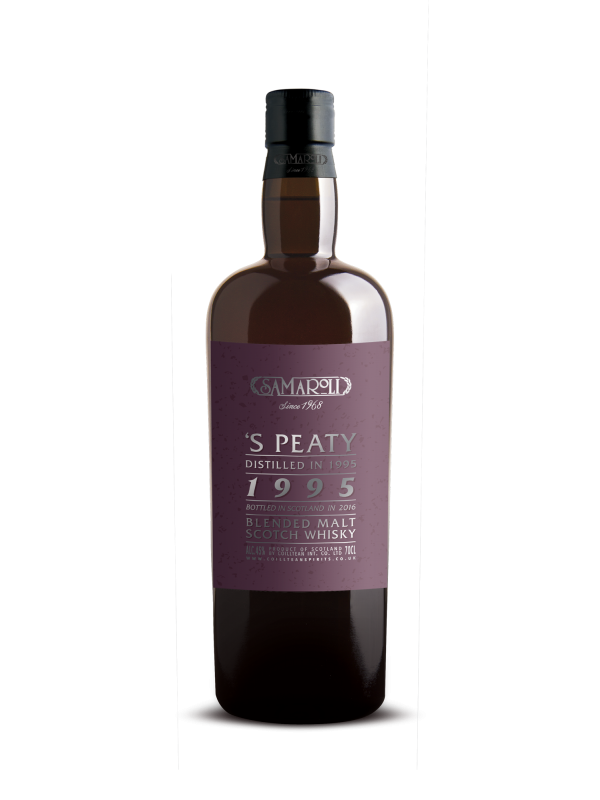 Samaroli 1995 S Peaty 2016 Edition Blended Malt Scotch Whisky 45% 70cl-30
