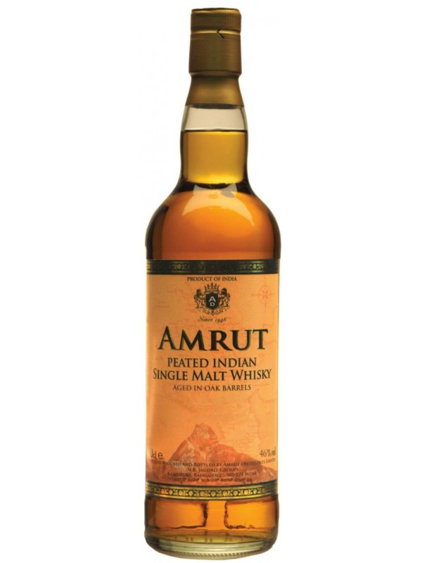 Amrut Peated Single Malt 46% 70cl Whisky fra Indien-30
