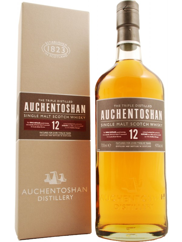 Auchentoshan 12 år Single Malt Whisky 40% 70cl-30