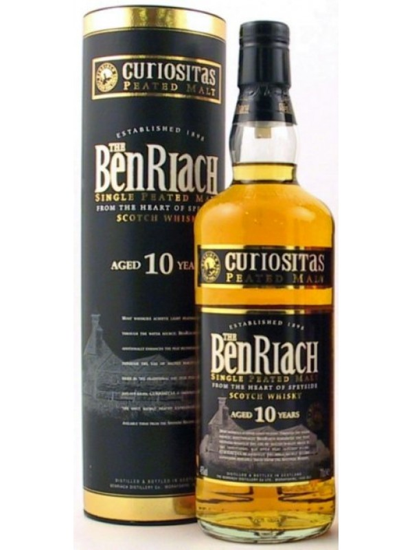 BenRiach 10 år Curiositas Peated Single Malt Whisky 46% 70cl-30