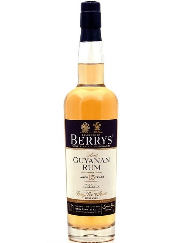 Berry Bros and Rudd Guyanan Rum 15 år 46% 70cl-30