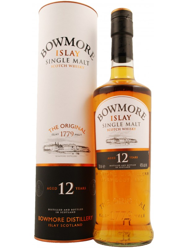 Bowmore 12 år Single Islay Malt Whisky 40% 70cl-30