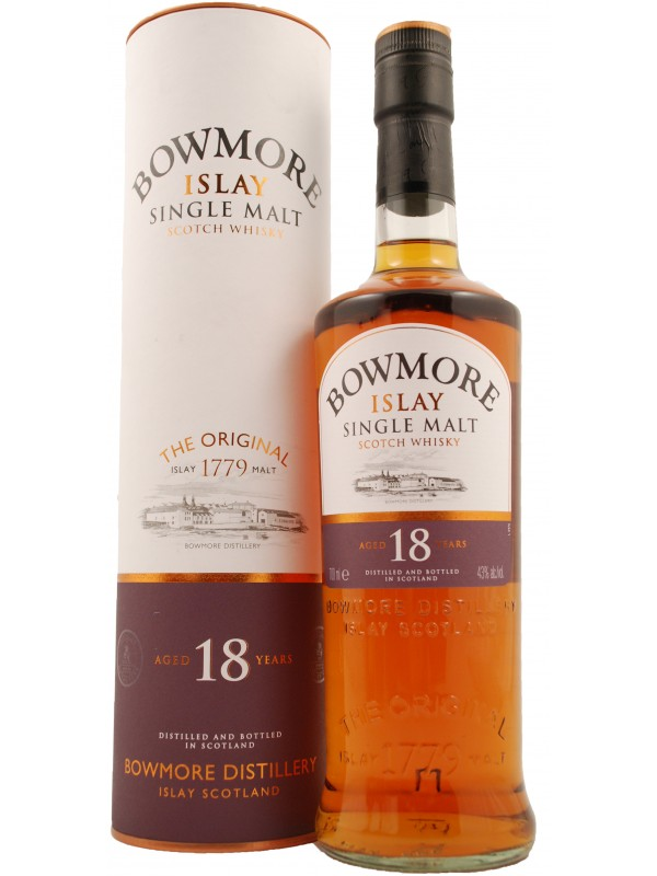Bowmore 18 år Single Islay Malt Whisky 43% 70cl-30