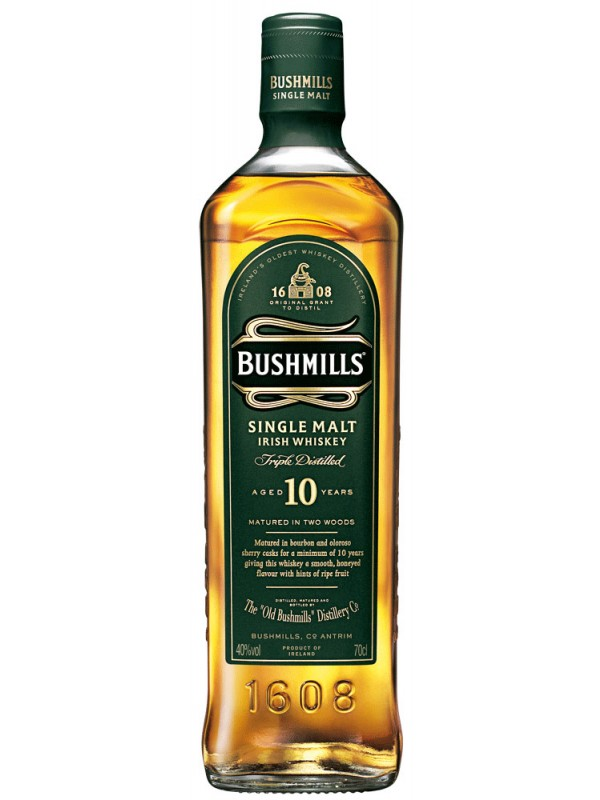 Bushmills 10 år Single Malt Irish Whiskey 40% 70cl-30