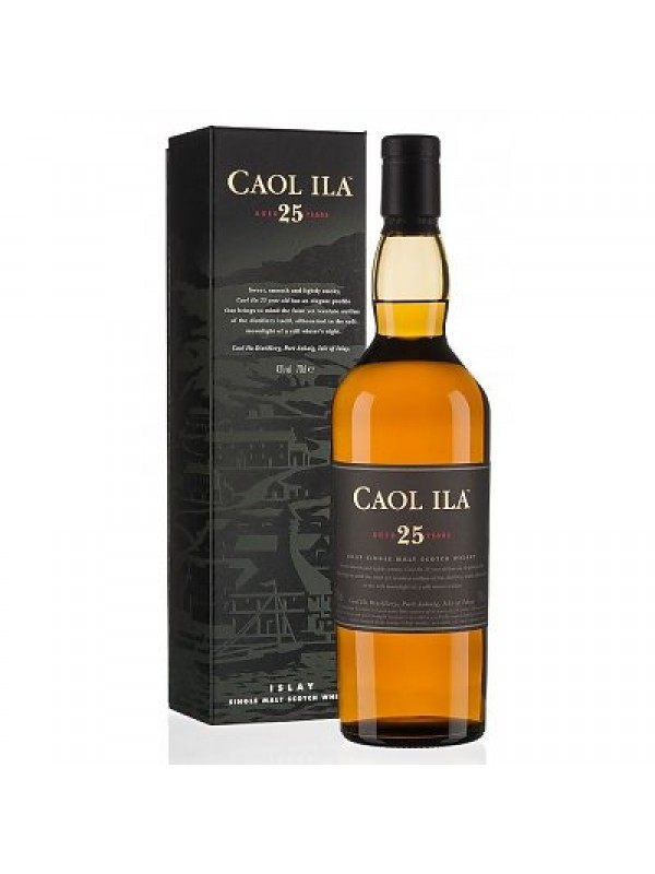 Caol Ila 25 år Islay Single Malt Scotch Whisky 43% 70cl-30
