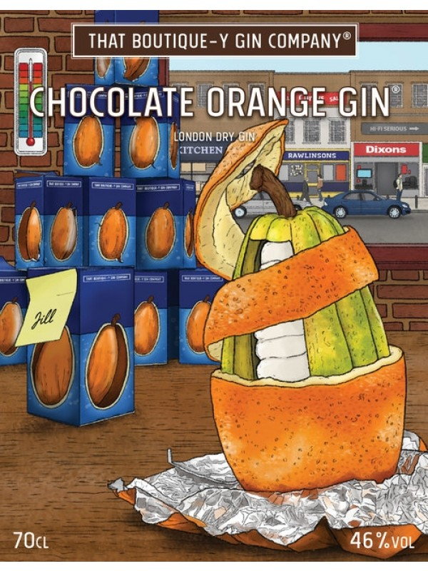 Chocolate Orange Gin That Boutique-y Gin Company flaske