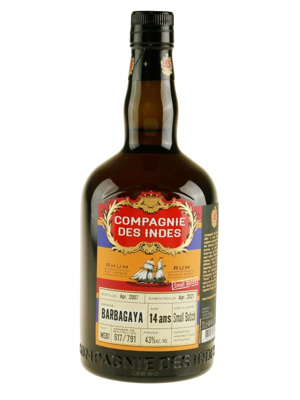 Compagnie Des Indes Barbagaya 14 ans Small Batch rom