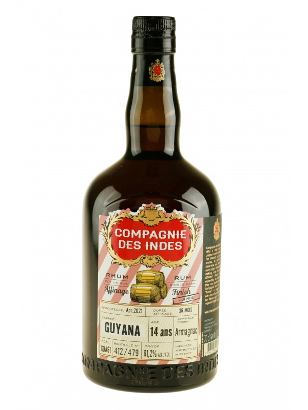 Compagnie Des Indes Guyana 14 ans Armagnac Finish rom