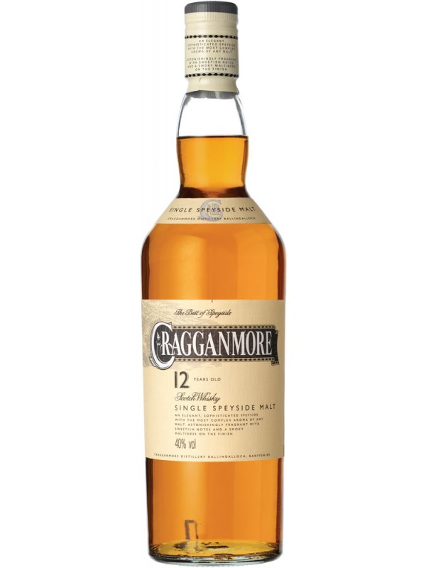 Cragganmore 12 år Single Malt Whisky 40% 70cl-30