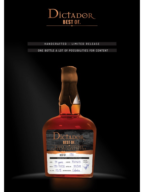 Dictador Best of 1981 Rum 43,1% 70cl Rom fra Colombia-30