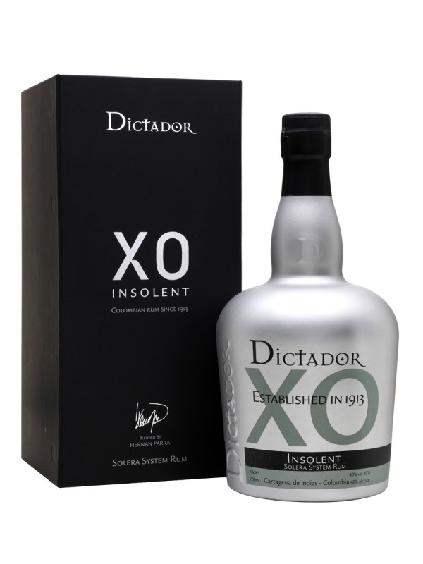 Dictador XO Insolent Solera System Rum. Colombiansk rom, 40% - 70cl.