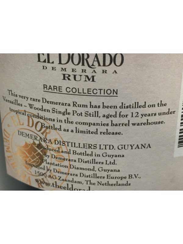 El Dorado Versailles 2002 Rare Collection 63% 70cl-30