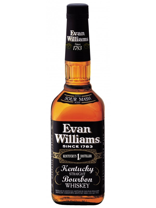 Evan Williams Black Label Kentucky Straight Bourbon Whiskey 43% 70cl-30