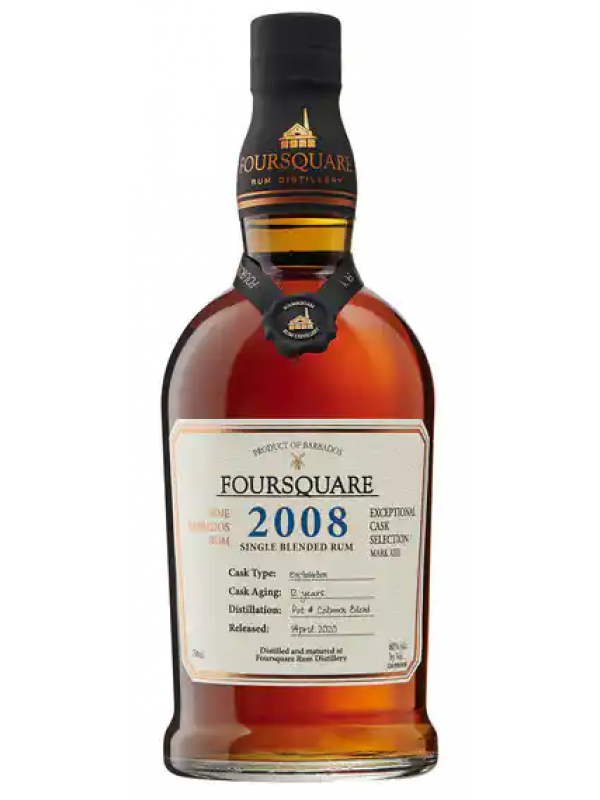 Foursquare 2008 rom Exceptional Cask Selection Rum