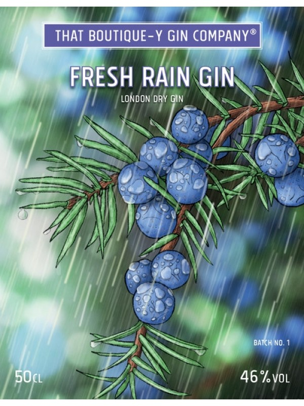 Fresh Rain Gin That Boutique-y Gin Company flaske