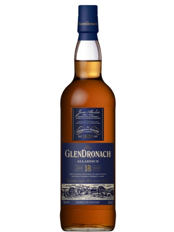 GlenDronach 18 år Allardice Single Highland Malt Whisky 46% 70cl-30
