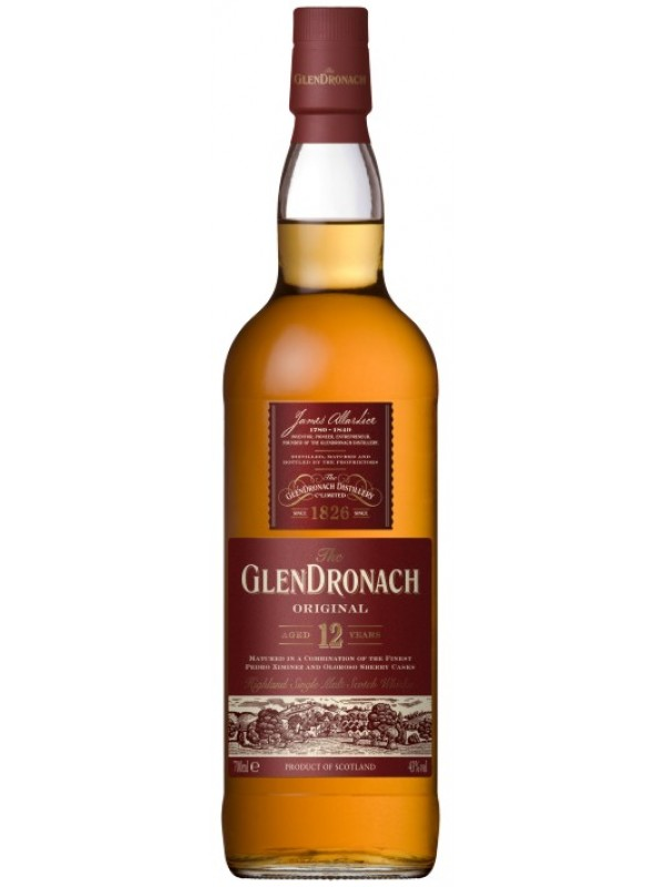 GlenDronach 12 år Original Single Highland Malt Whisky 43% 70cl-30
