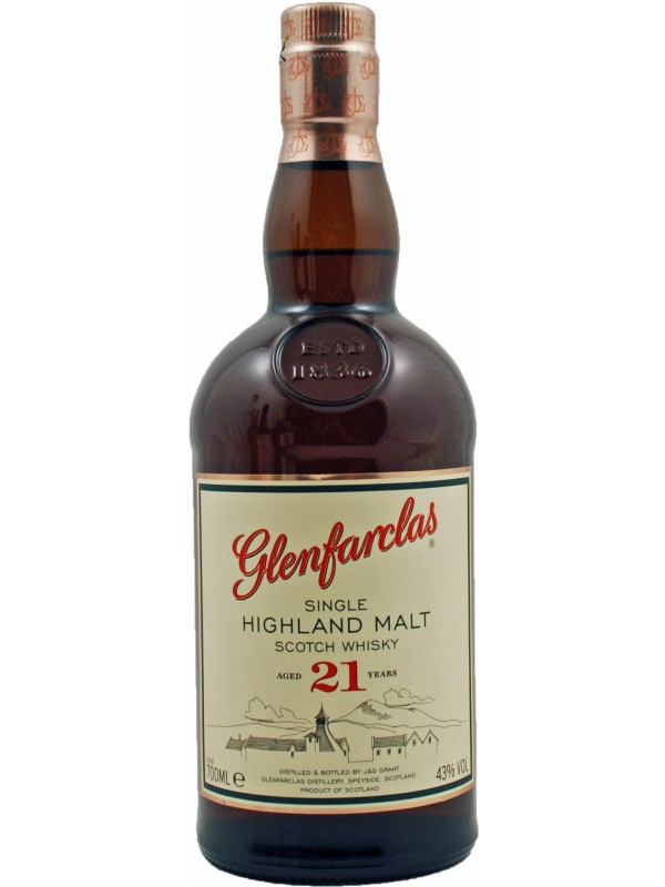 Glenfarclas 21 år Single Malt Whisky 43% 70cl-30