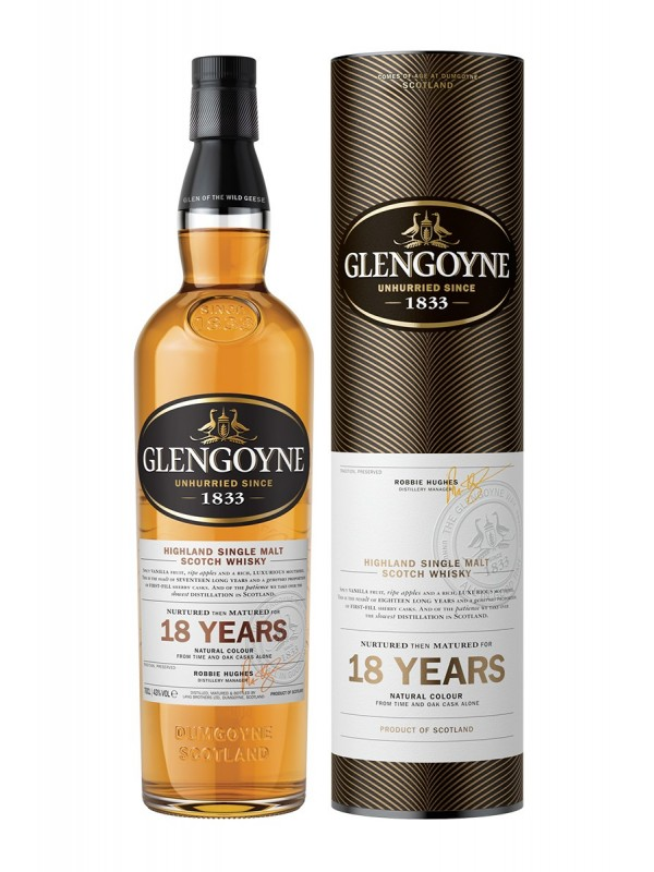 Glengoyne 18 år Highland Single Malt Whisky 43% 70cl-30