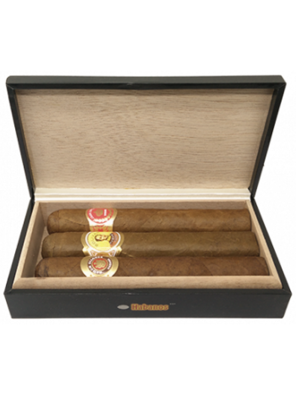 Habanos Robusto Selection 3stk. Cigarer fra Cuba-38