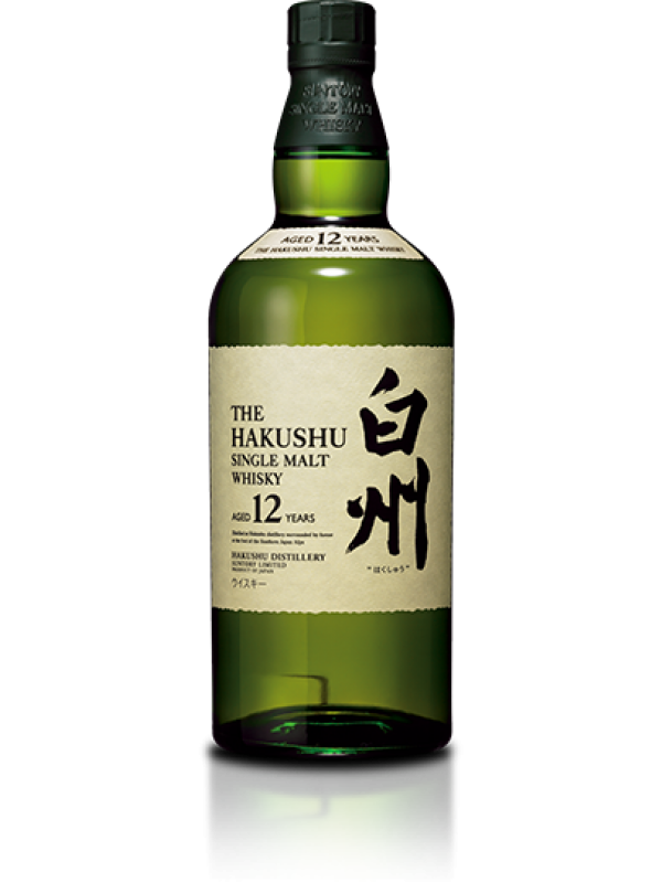 The Hakushu 12 år Single Malt Suntory Whisky 43% 70cl-30