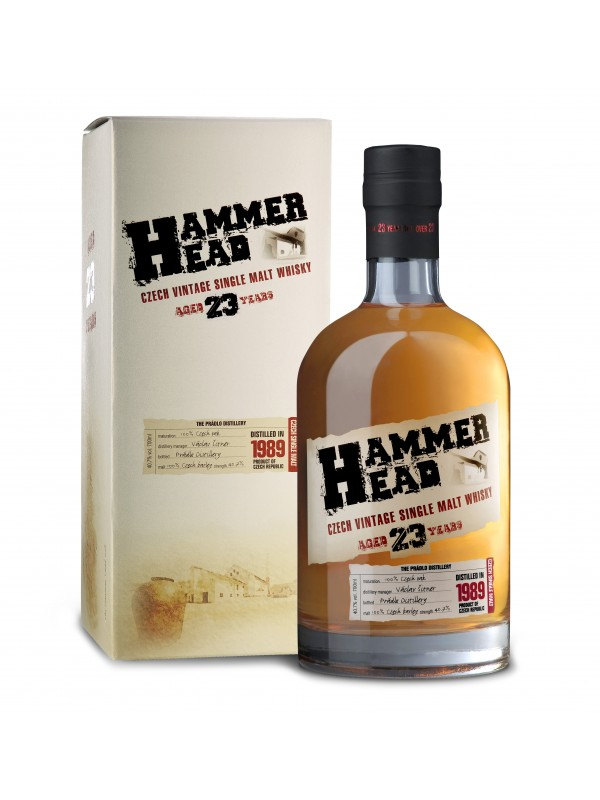 Hammerhead 23 år Czech Vintage Single Malt Whisky 40,7% 70cl-30