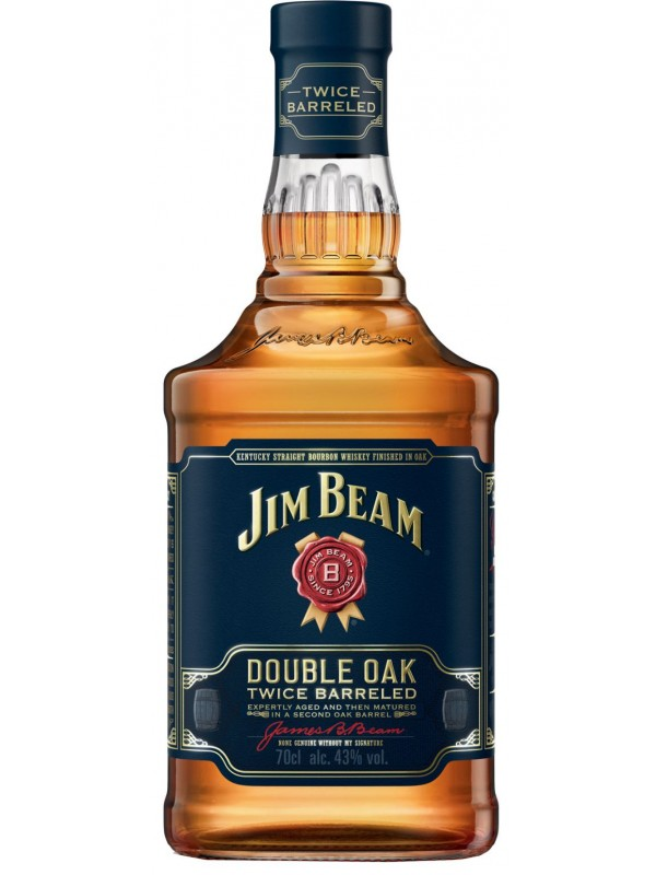 Jim Beam Double Oak Bourbon Whiskey 43% 70cl-30