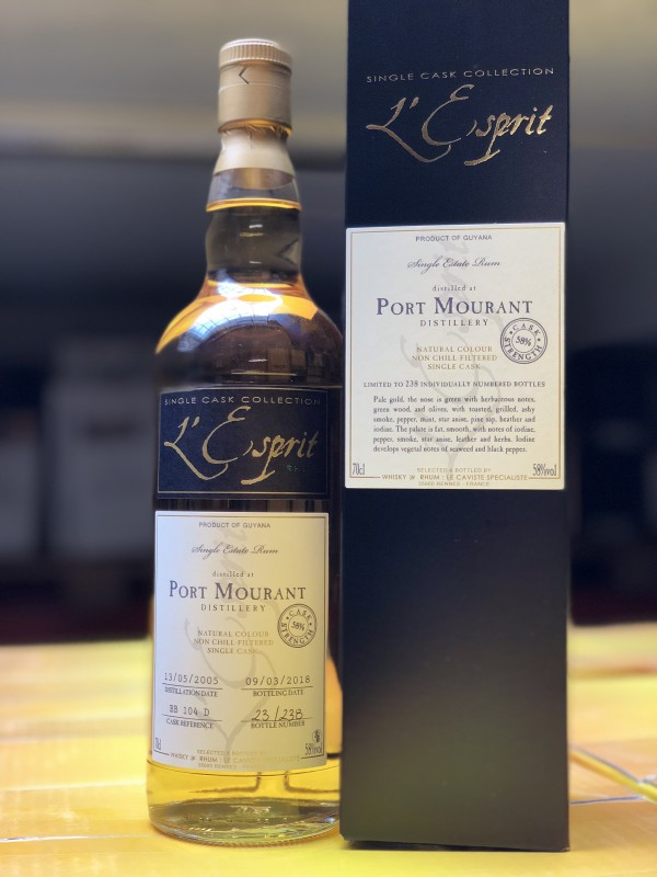 L'Esprit 2005 Port Mourant Single Cask Collection Rum