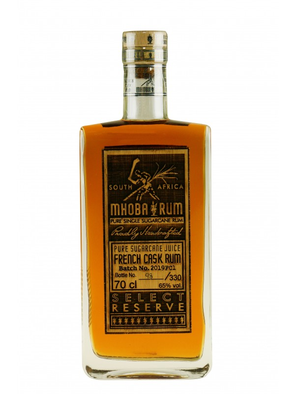Mhoba Select Reserve French Cask Aged Rum South African rom