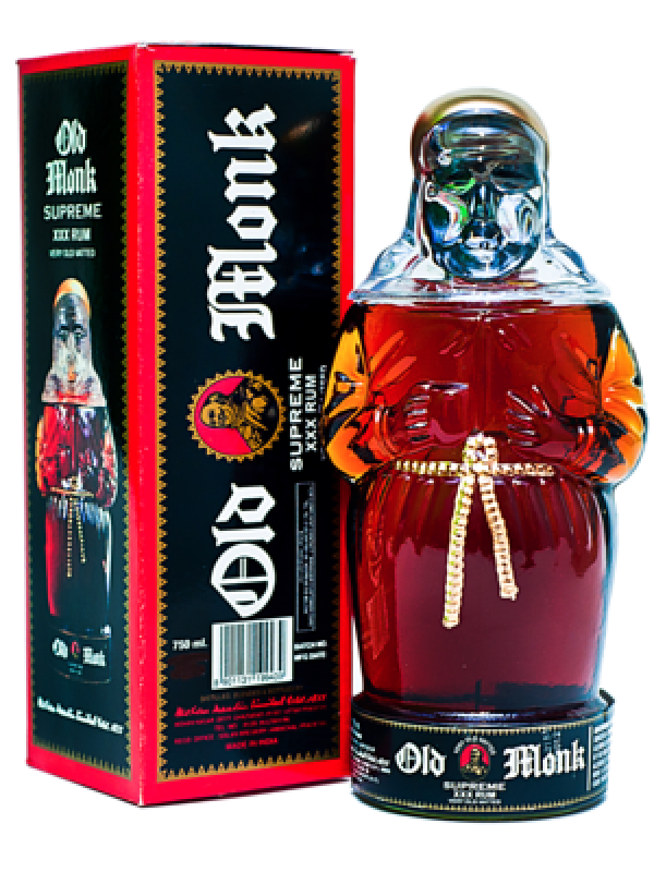 Old Monk Supreme XXX Rum 42,8% 70cl Rom fra Indien-30