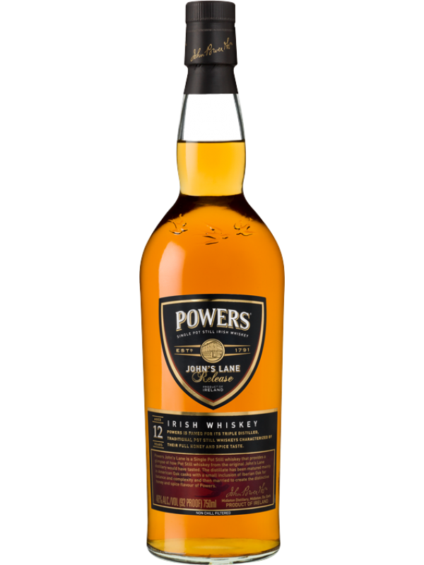 Powers Johns Lane 12 år Single Pot Still Irish Whiskey 46% 70cl-30