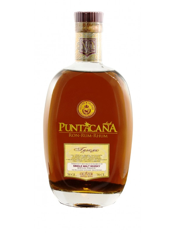 Puntacana Tesoro Whisky Finish Rum 38% 70cl Rom fra Den Dominikanske Republik-30