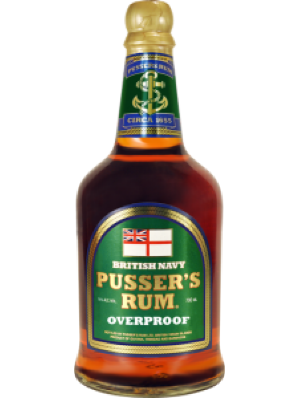 Pussers British Navy Overproof Rum 75% 70cl Green Label Rom fra Guyana/Trinidad-30