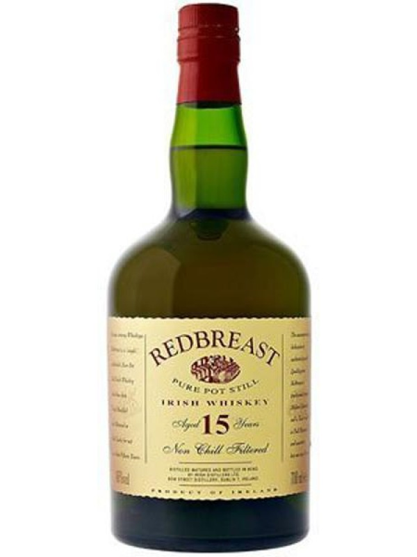 Redbreast 15 år Single Pot Still Irish Whiskey 46% 70cl-30