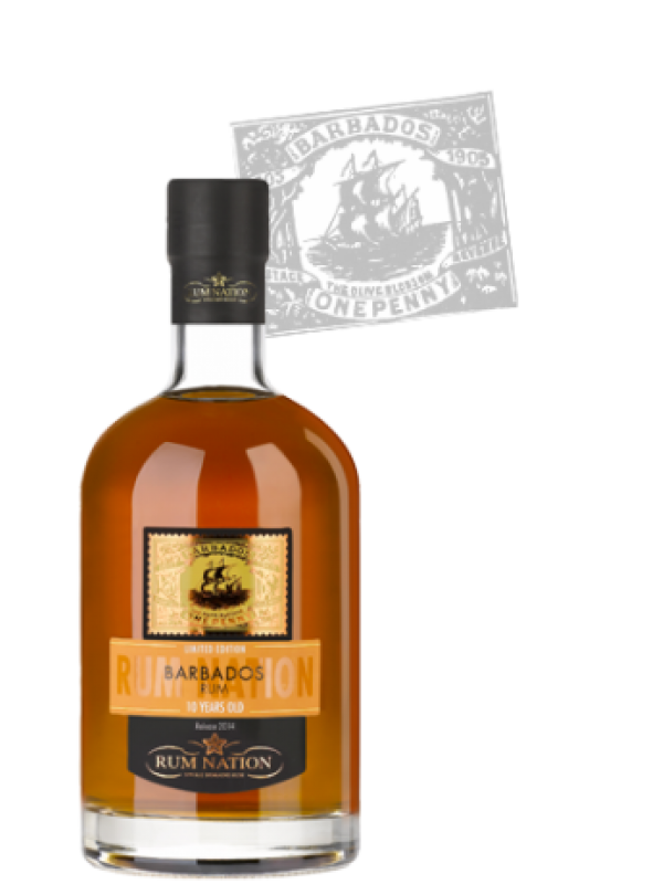 Rum Nation Barbados 10 år 40% 70cl Rom fra Barbados-30