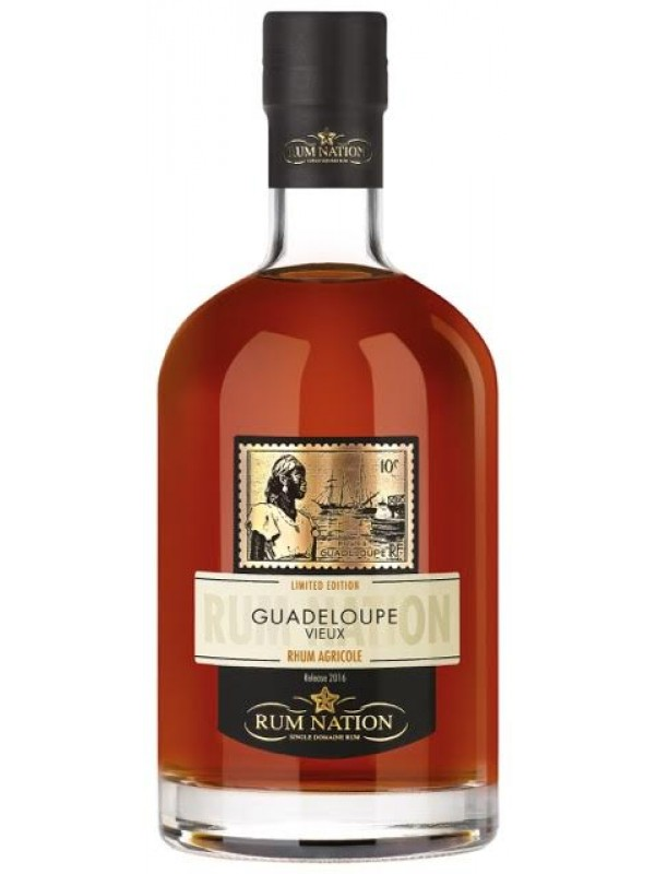 Rum Nation Guadeloupe Vieux Rhum Agricole 40% 70cl-30