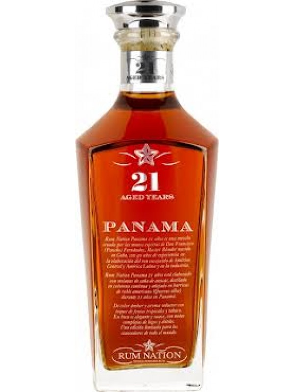 Rum Nation Panama 21 år Decanter 40% 70cl-30