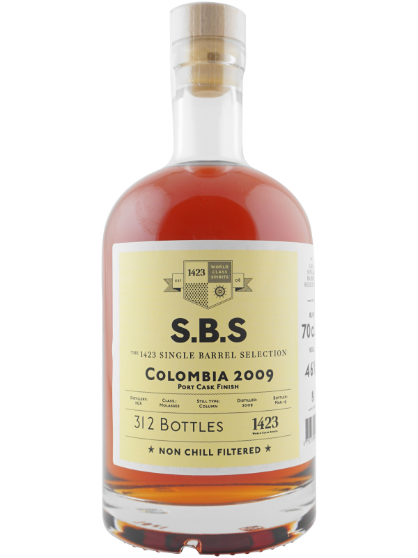 SBS Colombia 2009 Single Barrel Selection Rum