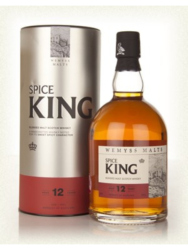 Spice KIng 12 år Wemyss blended malt scotch whisky 40% 70cl-30