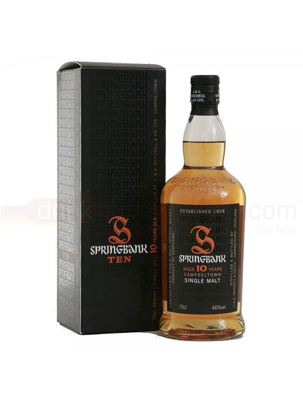Springbank 10 år Campbeltown Single Malt Whisky 46% 70cl-30
