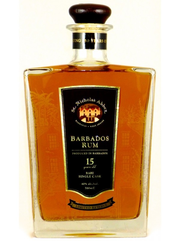St. Nicholas Abbey 15 år Rare Single Cask Rum 40% 70cl Rom fra Barbados-30