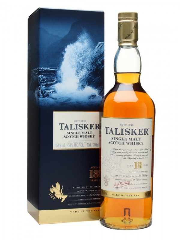 Talisker 18 år Single Malt Scotch Whisky 45,8% 70cl-30