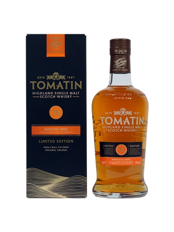 Tomatin 15 år Moscatel Wine Limited Edition Single Malt Highland Scotch Whisky