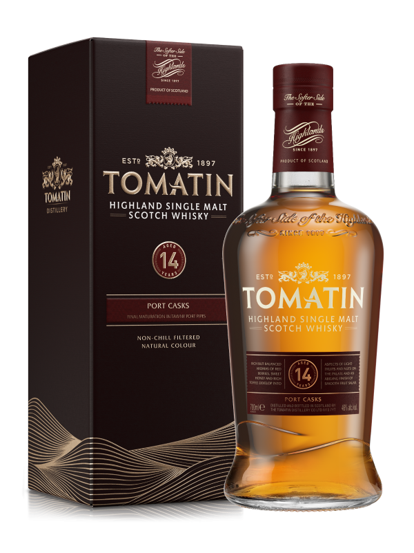 Tomatin 14 år Port Cask Finish Single Malt Highland Scotch Whisky