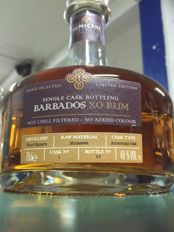 West Indies Rum and Cane Barbados XO Rum 46% 70cl-30