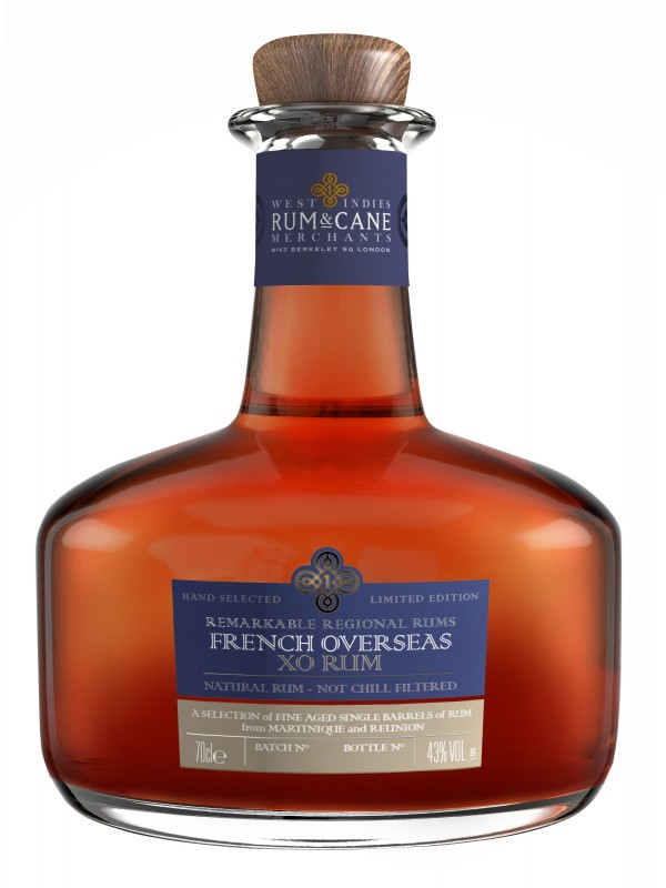 West Indies Rum and Cane French Overseas XO Rum 43% 70cl-30