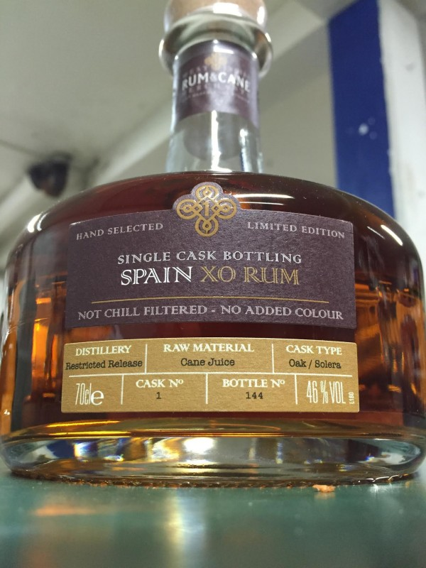 West Indies Rum and Cane Spain XO Rum 46% 70cl-30