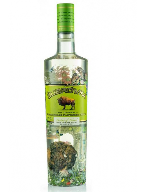 Zubrowka Bison Grass Flavoured Vodka 40%.