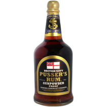 Pussers British Navy Gunpowder Proof Rum 54,5% 70cl Black Label Rom fra Guyana/Trinidad-20