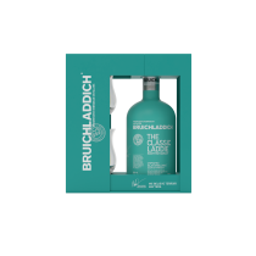 Bruichladdich The Classic Laddie Single Malt Whisky gaveæske med 2 glas